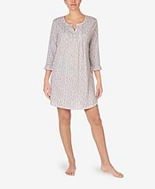 로렌 랄프로렌 잠옷 러플 가운 Lauren Ralph Lauren 3/4 Soft Ruffle Sleeves Gown,Ivory Floral