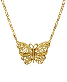 Women's 14K Gold Dipped Butterfly Pendant Necklace