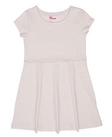 Toddler Girls Short Sleeve Solid Basic Dress