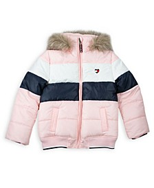 Big Girl Colorblock Puffer Jacket