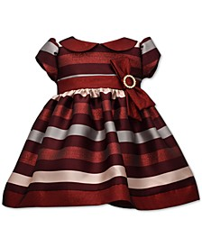 Baby Girls Jacquard Striped Dress
