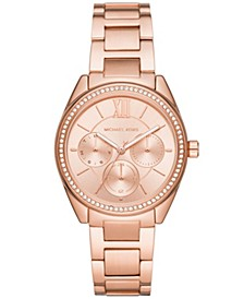 Women's Janelle Multifunction Rose Gold-Tone Stainless Steel Bracelet Watch 36mm