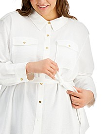Plus Size Belted Utility Tunic