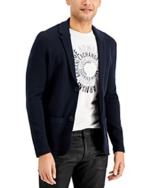 Men's Textured Button Blazer