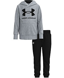 Little Boys Symbol Hoodie and Pant Set
