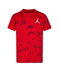 Big Boys Jumpman Logo Printed T-shirt