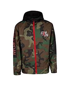Big Boys Jumpman Classics Camo Print Full-Zip Jacket