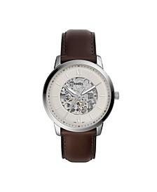 Men's Neutra Brown Leather Strap Watch 44mm
