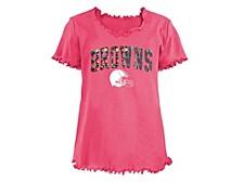 Cleveland Browns Big Girls Flip Sequin T-Shirt