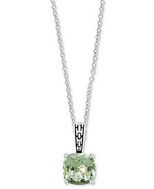 "EFFY® Green Quartz 18"" Pendant Necklace (3-3/4 ct. t.w.) in Sterling Silver"