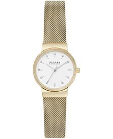 Women's Ancher Gold-Tone Stainless Steel Mesh Bracelet Watch 26mm