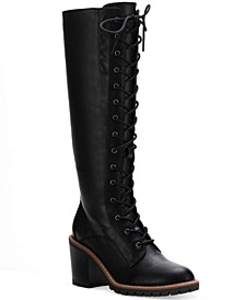 Eleanor Tall Lace-Up Boots, Created for Macy's