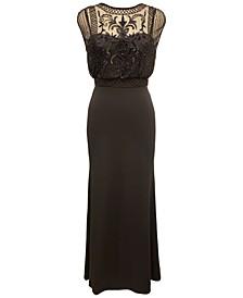 Beaded Chiffon Gown