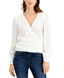 INC Long-Sleeve Wrap Top, Created for Macy's