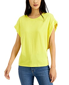 INC Rolled-Sleeve Oversize T-Shirt, Created for Macy's