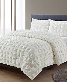 Madison Square Waffle Comforter 3 Piece Comforter Set, King