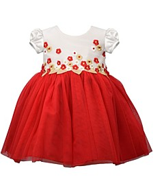Toddler Girls Floral Embroidered Dress