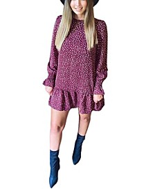 Women's Polka Dot Printed Shift Dress