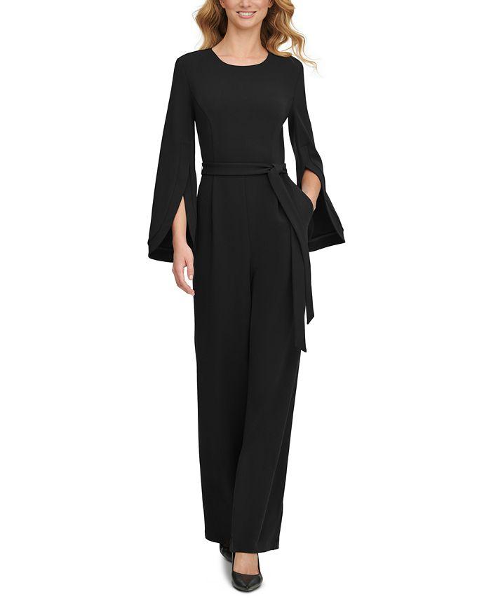 Calvin Klein - Cape-Sleeve Jumpsuit