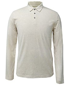 Men's AlfaTech Stretch Solid Long Sleeve Polo Shirt, Created for Macy's