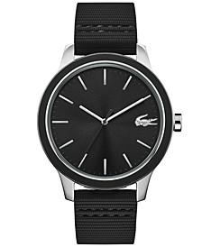 Men's Lacoste 12.12 Black Silicone Strap Watch 44mm