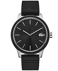 Lacoste Men's Lacoste 12.12 Black Silicone Strap Watch 44mm