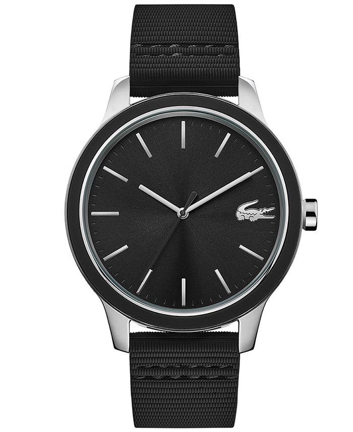 Lacoste - Men's Black Silicone Strap Watch 44mm