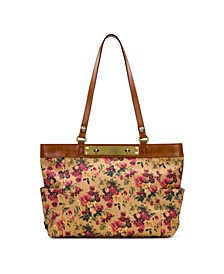 Coated Linen Canvas Ria Tote