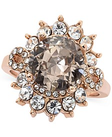 Rose Gold-Tone Crystal Halo Statement Ring, Created for Macy's