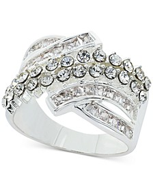 Fine Silver Plate Crystal Wrap Ring, Created for Macy's