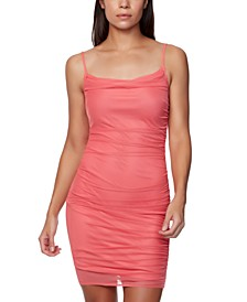 Juniors' Ruched Slip Dress