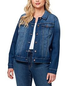 Trendy Plus Size Pixie Long Sleeve Denim Jacket