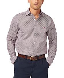 Men's Classic-Fit Pine Tree-Print Shirt