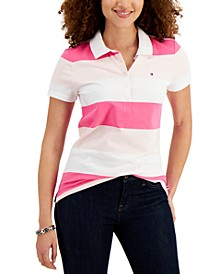 Rugby-Stripe Polo Shirt