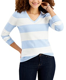 Cotton Rugby-Stripe Sweater