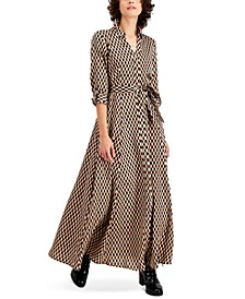INC Geo-Print Maxi Shirtdress, Created for Macy's