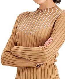 INC Rhinestone Mock-Neck Sweater, Created for Macy's