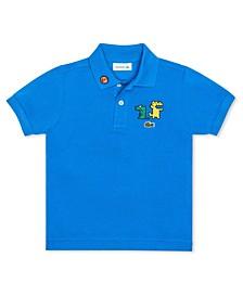 Toddler Boys Short Sleeve Organic Cotton Petit Pique Polo Shirt