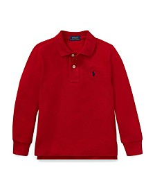 Little Boys Mesh Long-sleeve Polo Shirt