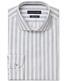Men's Slim-Fit Non-Iron TH Flex Performance Stretch Stripe Dress Shirt