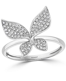 EFFY® Diamond Butterfly Statement Ring (1/3 ct. t.w.) in 14k White Gold