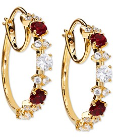 """18K Gold-Plated Small Cubic Zirconia Hoop Earrings, 1"""", Created for Macy's"""