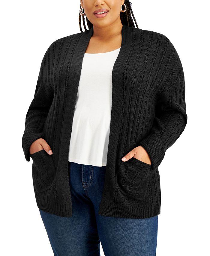 FULL CIRCLE TRENDS - Trendy Plus Size Cardigan