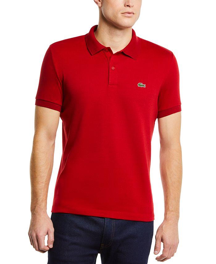 Lacoste - Men's Regular-Fit Herringbone Jacquard Polo Shirt
