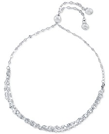 Three Row Mirror Link Bolo Bracelet in Sterling Silver, Created for Macy's