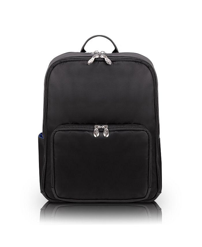 "McKlein - TRANSPORT, Nano Tech-Light Nylon, 15"" Dual-Compartment, Laptop & Tablet Backpack, Navy (19037)"