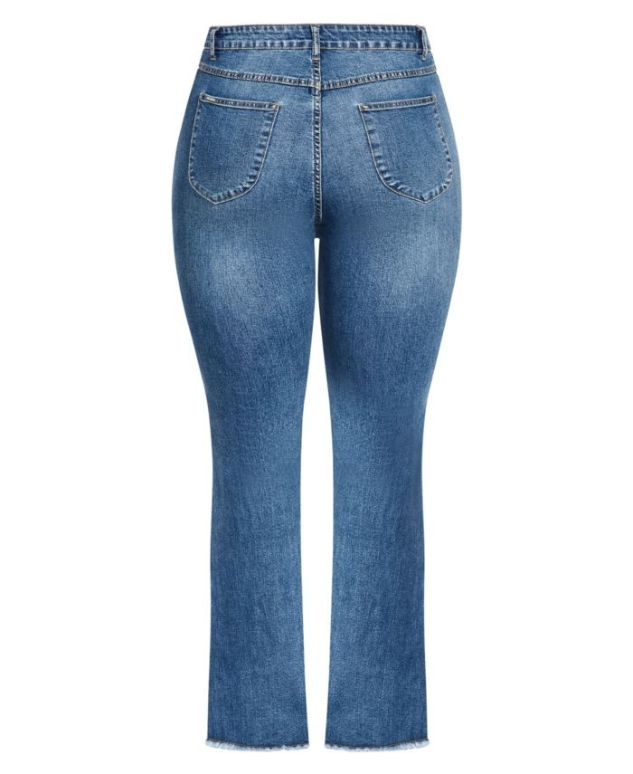 City Chic Women's Trendy Plus Size Harley Classic Flare Jean & Reviews - Jeans - Plus Sizes - Macy's