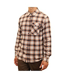 Men's Plaid Flannel one Pocket Button Down Shirt
