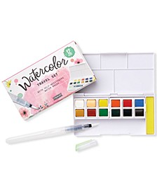 Mini Watercolor Paint Travel Set