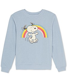 Juniors Graphic Print Snoopy Sweatshirt